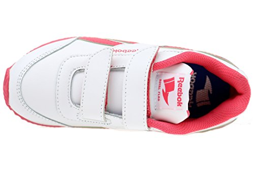 Reebok Royal Cljog 2 2V, Chaussures de Running Entrainement Fille Multicolore - Blanco / Rosa (White/Fearless Pink)