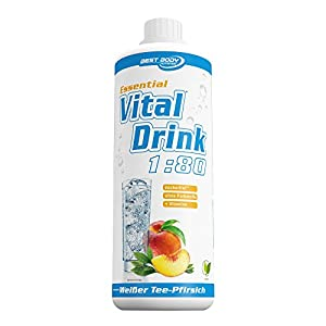 Best Body Nutrition - Essential Vital Drink, 1:80, Weißer Tee-Pfirsich, 1000 ml Flasche