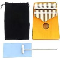 TZZD 17 Pulgar tecla del Piano de Placa única de Caoba/Pino Cascada del Agujero de Sonidos Mbira Instrumentos del Teclado con Accesorios (Color : Kalimba C)