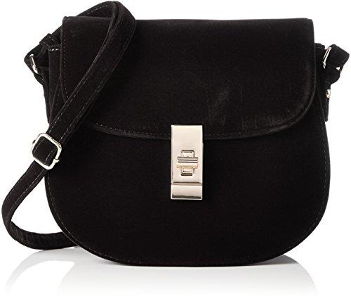 Buffalo - Bag 16bwg-36 Velvet, Borse a tracolla Donna Nero (Black 01)