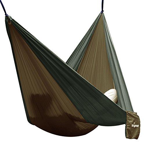 Hamaca de viaje/camping Unigear en tela Nylon de Paracaídas - Alta resistencia,...