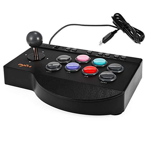 BISOZER Arcade Fight Stick, PXN - 0082 Arcade Joystick Game Controller, Wired Fighting Joystick, USB Fightstick Game Controller für PS3 / PS4 / Xbox One/PC (Kombat Mortal X-arcade-stick)