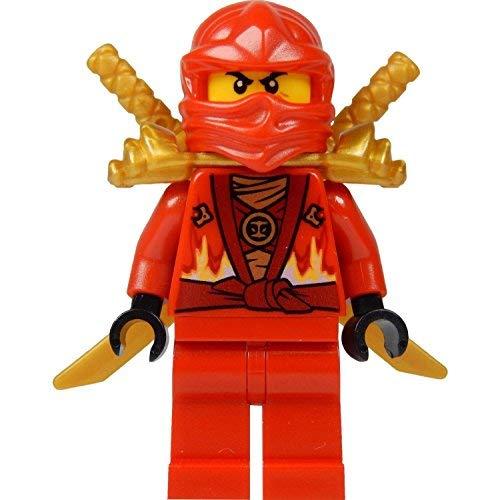 LEGO Ninjago: Minifigur Kai (roter Ninja) mit Schulterrüstung und zwei Katanas (Schwerter) LIMITED EDITION 2015