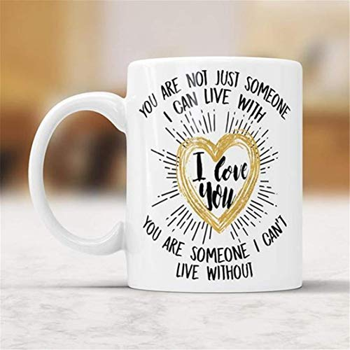 UUGOD You will always be my best Mug for Wife Husband Gifts,From Wife Coffee Mug,From Love Heart Mug, Love Quote Cup, Can't Live Without You In Love Gift, Anniversary Mug