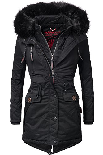Marikoo Damen Mantel Wintermantel Winterparka Rose 6 Farben XS-XXL