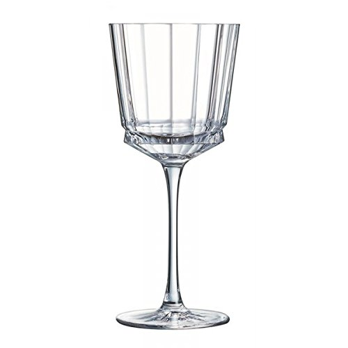 Cristal d'Arques L6590 Coffret de 6 Pied 35 Cl Vendu Par 6-Macassar, Verre Cristallin, Transparent, 20,8
