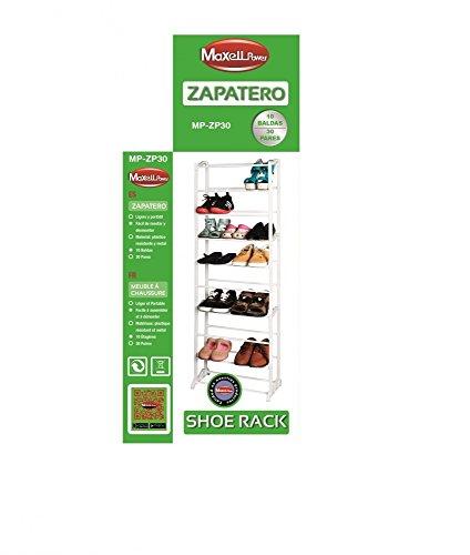 MAXELL POWER ZAPATERO 30 PARES ORGANIZADOR DE ZAPATOS MUEBLE SHOE RACK