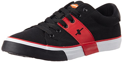 Sparx Men's Black and Red Canvas Sneakers – 9 UK (SC0215G) 41adVT8MVGL