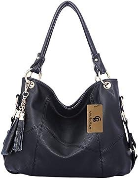 Ichic Boutique(TM)Damen Handtaschen Hobo-Bags Schultertaschen Beutel Beuteltaschen Leder Tasche