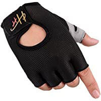 guantes moto, Sannysis guantes gimnasio hombre guantes tactiles guantes sin dedos mujer Guantes deportivos medio dedo fitness Ciclismo Invierno para Bicicleta de MTB Half Finger Gloves