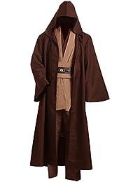 Star Wars Kenobi Jedi TUNIC cosplay disfraz Marrón versión
