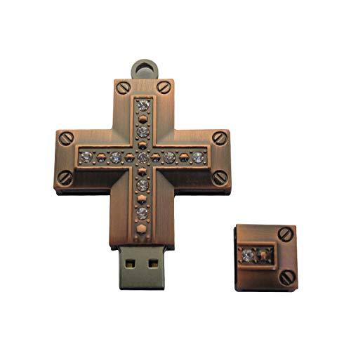 JJZHY Auto-U-Disk Mini-Computer Mit Doppeltem Verwendungszweck USB-Flash-Laufwerk Kreative Persönlichkeit Kreuz U-Disk,Als Zeigen,16 Gigabyte