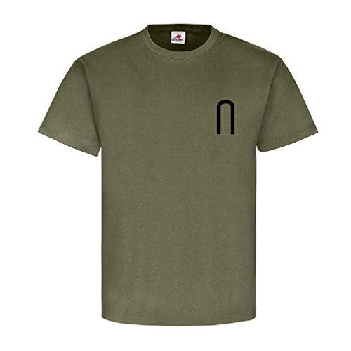 Fahnenjunker Dienstgrad Bundeswehr BW Abzeichen Schulterklappe Aufschiebeschlaufe Unteroffizier Offizier Mannschafter Truppendienst- T Shirt Herren oliv #15894