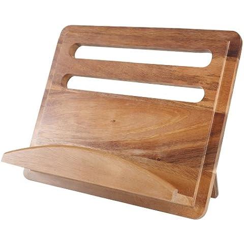 T&G Gift Range - Atril para libros de cocina, madera de acacia