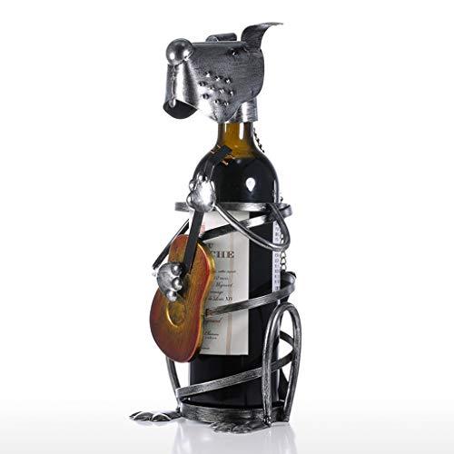 Yxyxml Europäische Dekoration Wohnzimmer Hund Mikrofon Weinregal Eisen Kunst Weinständer Metall - Kunst Verwandte Kostüm