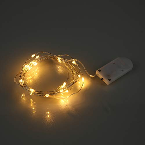 Leezo Weihnachten String Licht 2 mt 20 LED Batteriebetriebene Wasserdichte Fee Led-Licht für DIY Outdoor Thanksgiving Party Urlaub Festival Decor (Kupferdraht Lichter) (Billig Halloween-dekorationen Diy)