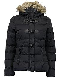 Brave Soul Ladies Jacket Womens Coat Hoodie Padded Puffer Fur Toggle Zip Winter