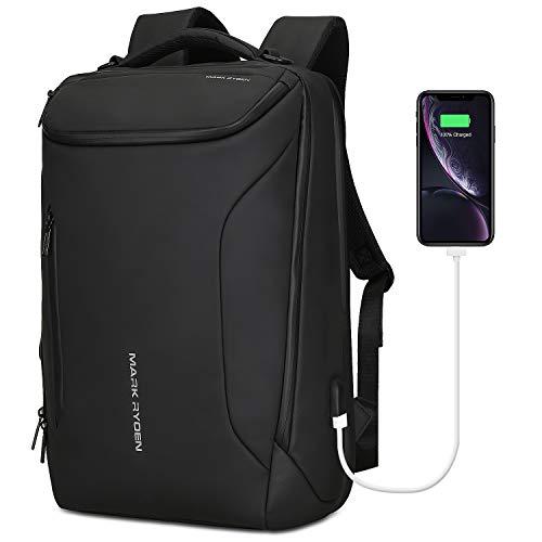 Mark Ryden Wasserdicht Laptop Rucksack mit USB 17.3 Zoll/15.6 Zoll für Männer Multifunktionsrucksack Diebstahlsicherung Tagesrucksack für Business Grosse Kapazität ...