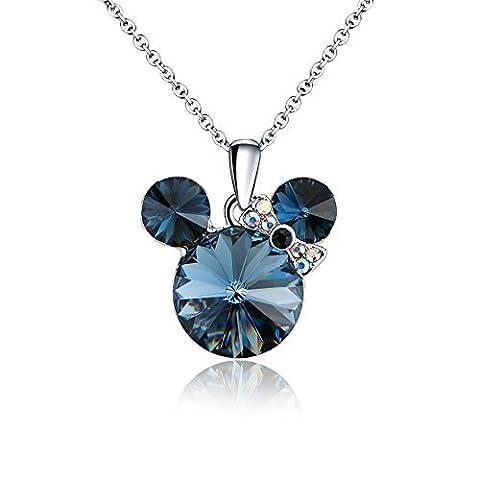 925 Sterling Silber - Österreichischen Kristall SWAROVSKI - Schön Halskette