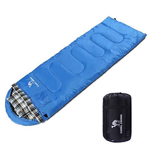 CAMEL CROWN Portable Schlafsack mit Kompressions Sack, Outdoor Wandern Camping Tools Getriebe für Kinder Männer Frauen 4 Jahreszeiten