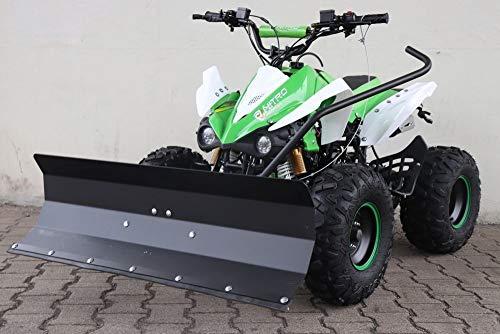 MONTIERT FAHRBEREIT 125cc Panthera Quad ATV mit Schneeschieber Schneeschild Räumschild 100cm (Grün)