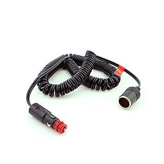 Heyner Premium 12V Buchse Power Extension Spirale führen Kabel 5m 10A Sicherung