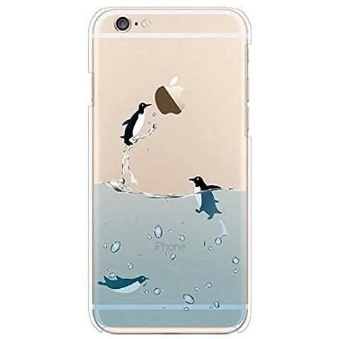 Pour iPhone 4 4S Cover , IJIA Transparent Bleu Mer