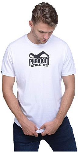 Phantom Athletics Herren T-Shirt Team Fitness Kurzarm-Shirt Sport T-Shirts Sleeve Rundhalsausschnitt Weiß Gr. S - Team Athletic-t-shirt