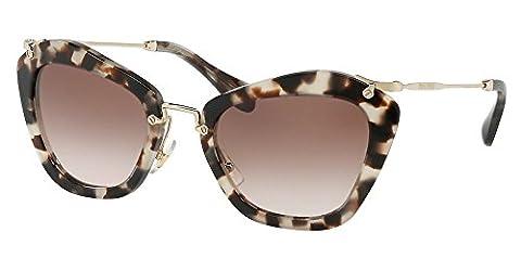 Miu Miu MU10NS Sunglasses UAO0A6 Opal Ivory Havana 55-24-140