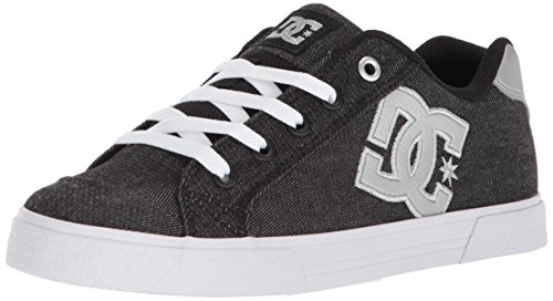DC Women's Chelsea TX SE Skate Shoe, Black/Anthracite, 5 B US -