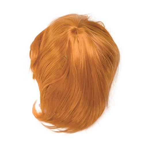 SODIAL Kurze Haare Anime Cosplay Peruecke 30 Cm Hoch Temperatur Faser Synthetische Haar Peruecken Fuer Halloween Karneval Ankleiden Party Peruecke Orange