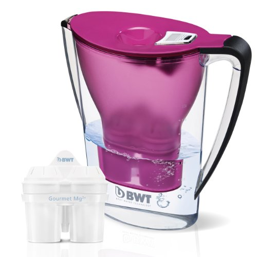BWT Mineralwasserkanne mit 2 Patronen, Weiß, 2,7 Liter - Britta Wasser-filter-flasche