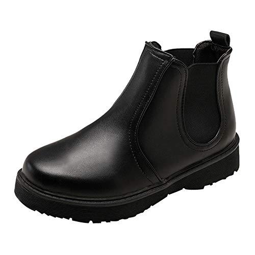 Stiefel Damen Vintage, Sonnena Casual Flache Boden Plateau Knöchel Schuhe Boots Einfarbig...