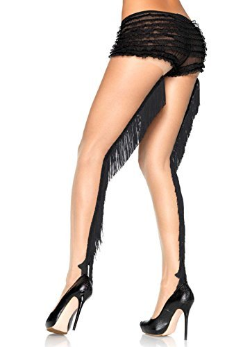 Leg Avenue Lycra Sheer (Lycra Sheer Pantyhose NUDE/BLACK by Leg Avenue)