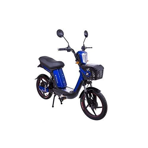 Bicicletta elettrica ELOP E-Bike Ciclomotore Scooter elettrico ciclo pedalata assistita EAPC 250W 25 km/h Strada legale Blu