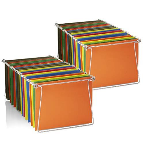 Officemate Hängeregistratur Größe Rahmen, Buchstaben, Schienen passt 61cm zu 68,6cm Edelstahl, 2Sets (91999)