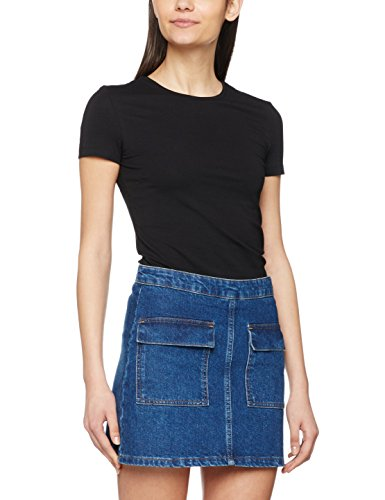 PIECES Pcsirene Tee Noos, T-Shirt Donna Nero (Black Black)
