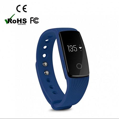 Armbanduhr Bluetooth Smartwatch Handy Uhr sportuhr,langlebige Batterie,Herzfrequenzmessung,täglich wasserdicht,Schlafüberwachung,Speicherplatz für Musik,Kalorienzähler,Anti-verloren handy uhr,Bester Fitness Dimmbarer Projektion Dual-Wecker