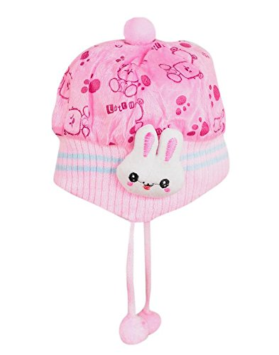 Krystle Boys|Girls Kids Woolen Cap With Side Protection- Pack Of 1 (0-18 Months)