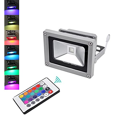 20PCS 10W RGB Proyector LED AC 85V-265V 120 grados angulo de haz impermeable Spotlight seguridad al aire libre de alta potencia de la lampara del paisaje al aire libre