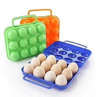 MZMZ generico accessori belli 12 girds Uovo di plastica le scatole(colori casuali)