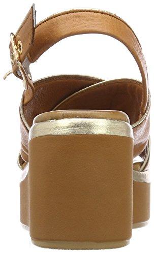 Inuovo Damen 8679 Peeptoe Sandalen Beige (Coconut-Gold)