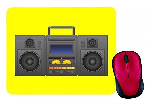 "Mauspad \""BOOMBOX- GHETTO BLASTER- AUDIO PLAYER- CD SPIELER- MUSIK PLAYER- RADIO- BLÄSER- STEREO- GHETTO- MUSIK- BOX- RETRO\"" in Gelb | Mousepad - Mausmatte - Computer Pad - Mauspad mit Motiv"
