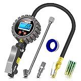 Oasser Manómetro Presión Neumáticos Digital 0-18bar Manómetro Inflador Neumáticos Compresor Medidor Presión Neumáticos Profesional Portátil para Coche Moto Bicicleta y Camión 0-255psi P5