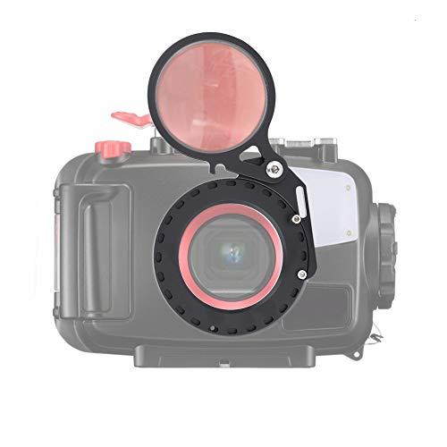 Elerose 67mm Tauchen Filter Single Flip Objektiv Adapter Halterung für DSLR Kamera Unterwassergehäuse