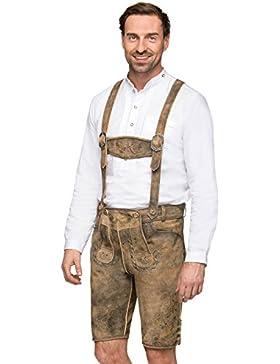 Stockerpoint Lederhose H-Träger Fesl hanf