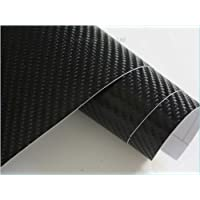 "4D Carbon Fibre Car Wrap 50cm x1.52m (0.5m x1.52m) (19"" x59"") (Black) - ukpricecomparsion.eu"