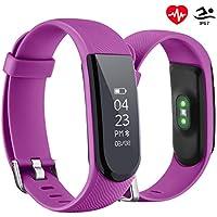 OMORC Tracker d'Activité Montre Connectée Fitness Tracker Cardiofréquencemètre Etanche IPX7 Bracelet Connecté Smartphones Podomètre pour iPhone Samsung Android iOS