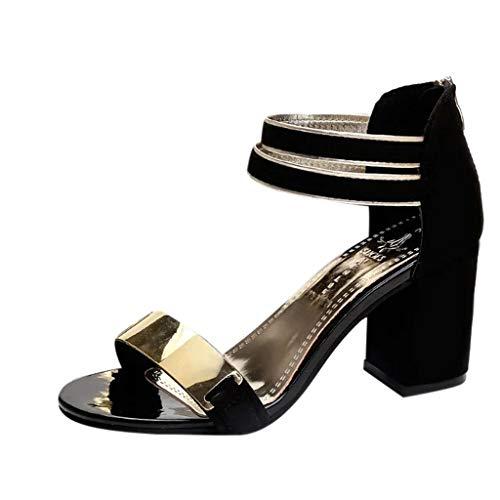 Qmber Spitze Damen Pumps Bequeme Lack Stilettos Plateau Wedge Peep Toe Offen Vintage Schuhe Sommerschuhe Fischmundsack Einem Wort koreanischen Frauen Schuhe dick/Black,38
