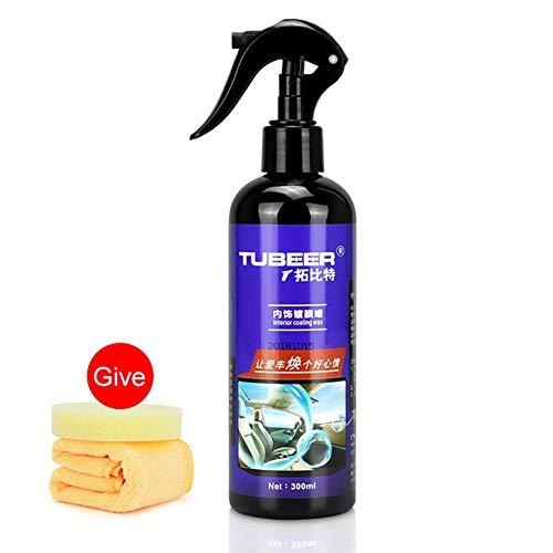 Beenzy set di cera per rivestimento auto interni auto cera per pulisci pelle kit levapolvere per lucidatura cera kit di lucidatura per auto di qualità premium lucidante spray con spugna e asciugamano